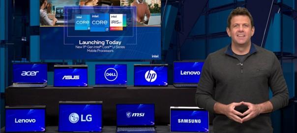 英特爾業務行銷暨公關事業群客戶運算業務副總裁Steve Long介紹第11代Intel® Core™ 處理器新產品成員