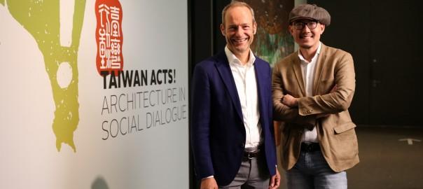 【新聞照片2】臺灣策展人裘振宇(右)與德國慕尼黑建築博物館館長Andres Lepik博士(左)